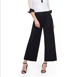 NY&Co. Cropped Wide Leg Pinstripe Dress Pants